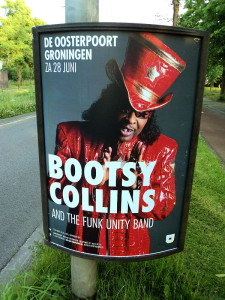 Bootsy Collins met zwarte tand