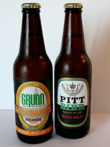 Grunn bier (Goudhaantje) en Pitt bier